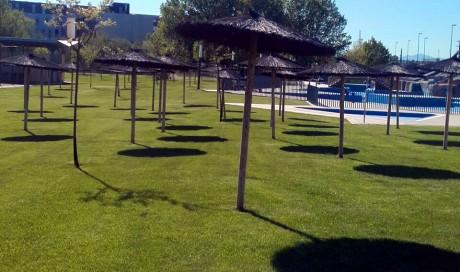 Mantenimiento de áreas verdes en Ciudad Deportiva.