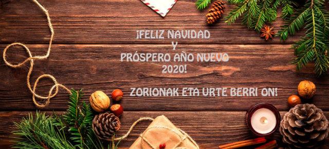 Feliz Navidad y próspero año 2020.