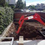 Excavación de zanjas para riego